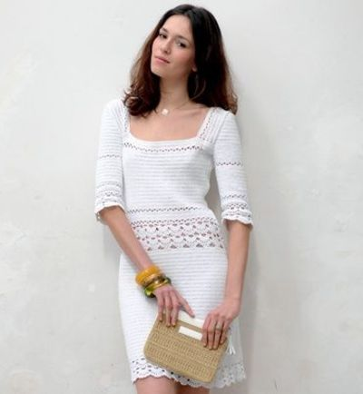 modele robe crochet 100 coton modeles tricot femme With robe coton femme