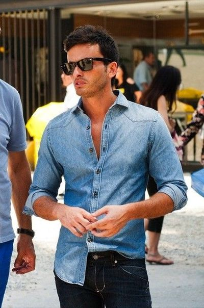 Man Style Chambray And Shades Half tuck Men Style For My