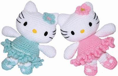 Hello Kitty Toy Knitting Pattern Free : Free pattern Ravelry: Hello Kitty Ballerina Amigurumi patter... / crochet ide...