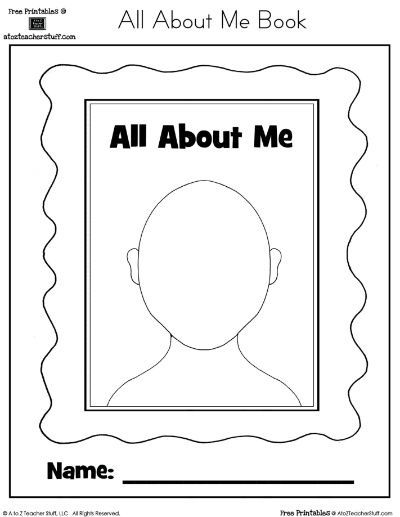 Challenger image intended for all about me book preschool printable