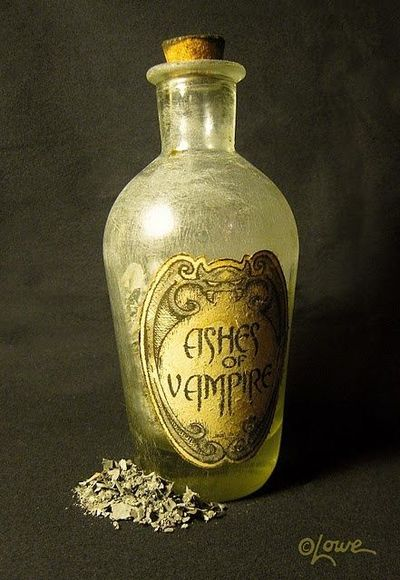 Ashes of vampire - Label available at link - AWESOME ! Love the aging glass technique.