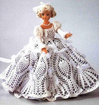 Lovely Pineapple Dress For A Barbie Doll Crochet Free Patterns