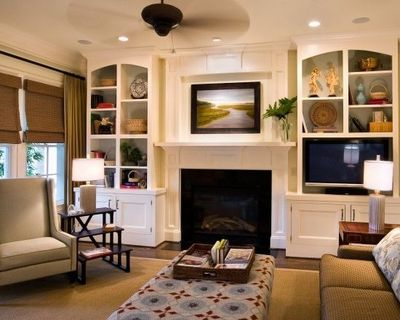 fireplace bookcase design ideas