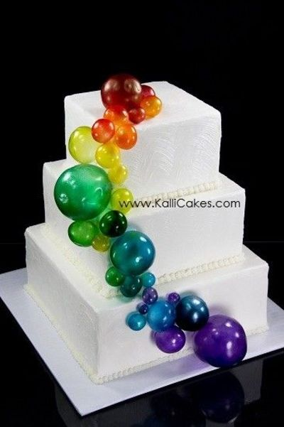 Cake Decorating Gelatin : Gelatin Bubble cake / wedding cakes - Juxtapost