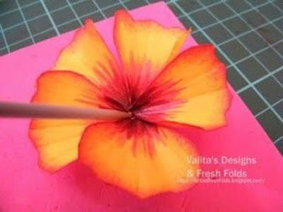 Hibiscus Flower Tutorial With Punches And Provided Templates
