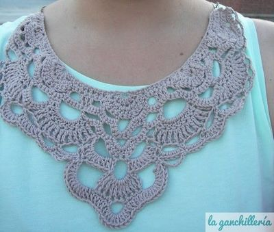 Quotes About High School Friends crochet collar (with l...