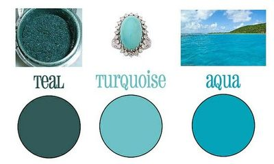 Good visualization for teal vs aqua vs turquoise for the home