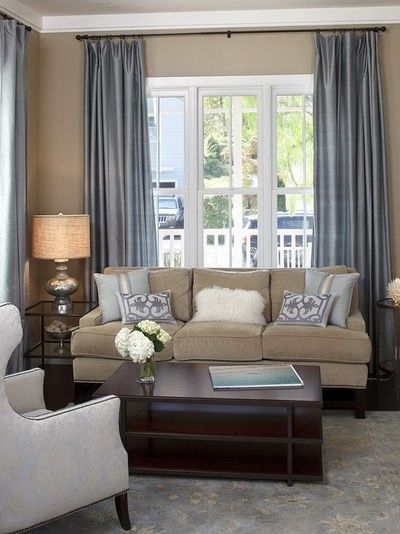 Living Room White Slate Blue Tan And Dark Brown Color Sch For The Home Juxtapost