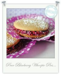 Gluten free Pear & blackberry whoopie pies