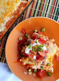 Southwestern Chicken Casserole -- an easy, cheesy one-dish meal