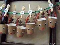 Sweet Reindeer Advent Cups