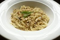 Linguine with Brown Butter, Sage, and Poor Man's Parmesan
