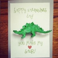 "You make my heart ""saur!"" Free printable."
