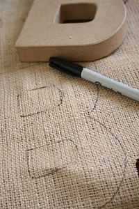 how to make burlap letters