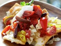 Greek-Style Nachos from Cat Cora - make these for dinner or for entertaining