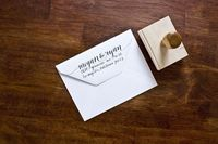Custom Return Address Stamp by Molly Jacques