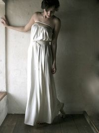 Ivory Jersey Wedding dress