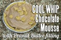 COOL WHIP Chocolate Mousse with Peanut Butter filling