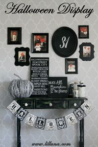 Halloween Tablescape and Gallery Wall - #halloween