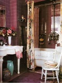 Betsey Johnson's Apartment 1997. love the color palette