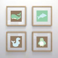 Nursery Wall Art 'Under the Sea Dolphin' 6x6 by OliveandRubyKids, $10.00