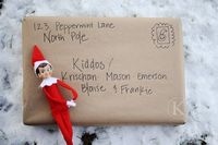 elf on the shelf sends a package.