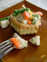 Individual Chicken Pot Pies!! You think this picture looks good? Imagine how it actually tastes!! Try it tonight your whole family will love it!!! www.Facebook.com/wildtreeofficial