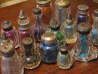 Store glitter in vintage salt & pepper shakers
