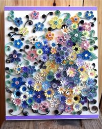 quilled art on wood canvas