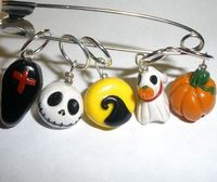 Stitch markers - Nightmare b4 Christmas /for knitting Needles. $16.00, via Etsy.