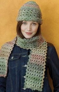 Free Crochet Patterns Hats Scarves : Free Crochet Hat & Scarf Pattern. / crochet ideas and tips ...