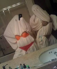 I'm gonna be a slutty ghost for Halloween. Costume Win!