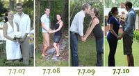 Yearly anniversary pictures, cute idea!