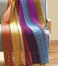 Eyelet Strip Afghan