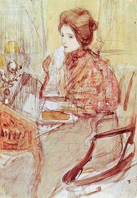 axentowicz...lady at the table