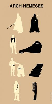 Star Wars protagonists and their personal archenemies...