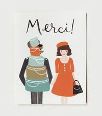 Nice. Merci card (thank you card) by Rifle Paper Co.