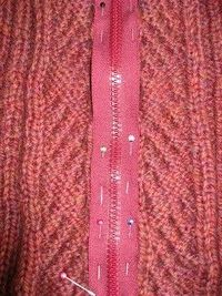 Beat Knitting: Sewing a zipper into a sweater