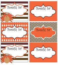 Thanksgiving Thankful cards-start a new tradition, start at the beginning of November