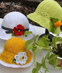 Garden Party Crocheted Hat