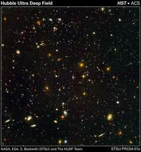A portion of the Hubble Ultra Deep Field