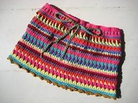 Crochet skirt - would be great for a little girl