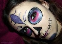 Halloween Look - Sugar Skull, more photos http://www.talasia.de/2012/10/19/halloween-looksugar-skull/
