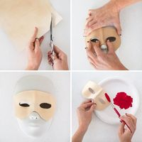 how to make a leather mask steps 5-8