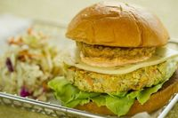 Recipe: Vegetable Burger with Fried Green Tomatoes and Creole Remoulade from Landscape of Flavors at Disney's Art of Animation Resort