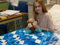 Quilts for Kids is such an awesome organization and it really lets you use your skills to comfort a child, even older kids, when in the hospital. I love it. It's one of my fave organizations... QuiltsforKids.org