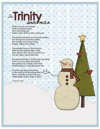 Love this snowman poem about the Trinity! Print worthy.