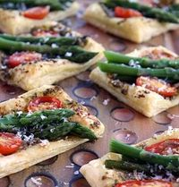 Asparagus and Parmigiano Puffs