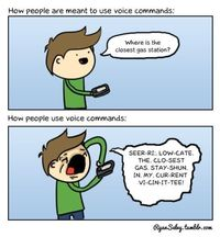How people use voice commands. so true.