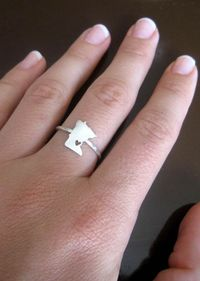 I want! Any State Love Ring in Sterling Silver.. Cute!